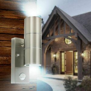 3000K LED Up and Down PIR Sensor Wall Light Outdoor Garden Lamp Waterproof IP54