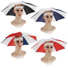 Parapluie Chapeau Bonnet Tête Pêche Camping Randonnée Sun Shade Brolly pliable Outdoor