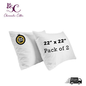 """PACK OF 2 Cushion Pads Inners Fillers Inserts 22""""x22"""" Inch Hollow Fibre Corovin"""
