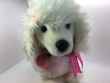 Pink White Dog Keel Cuddly Toy Poodle Plush Stuffed Soft Animal Puppy (O)