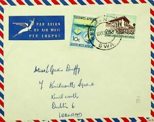 SOUTH WEST AFRICA 2v ON AIRMAIL COVER TO IRELAND