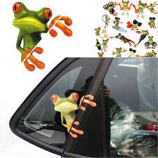 3D Cartoon Frog Car Truck Window Decoration Decal Sticker Pattern Random PR