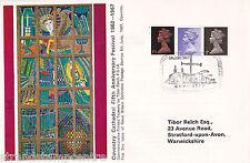 1967 4d, 1/- & 1/9d DEF's - COVENTRY Cathedral Ufficiale (dimensioni più piccole)