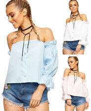 Square Neckline Crop Tops for Women