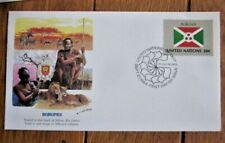BURUNDI FLAG STAMP 1984 FLEETWOOD CACHET FDC VF UNADDRESSED