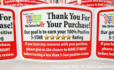 50 Amazon eBay etsy Thank You For Your Purchase Shipping Labels Stickers 2x3