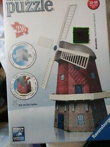 Ravensburger 3D Puzzle Windmill 216 Plastic Pc No.125630 Age 10-99 NIB