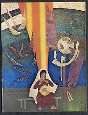 C1970's Art Card - Swedish 'How Shall This Be' - Mary & Baby Jesus