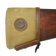 Leather Canvas Slip On Rifle Recoil Pads, Gun Extension Pad For Rifles Shotguns