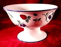 Princess House Large Orchard Medley Pedestal Footed Fruit / Salad Serving Bowl