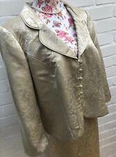 Roman Originals 2 Piece Suit Gold Yellow Jacket 20 Skirt 16 Mother Bride Outfit