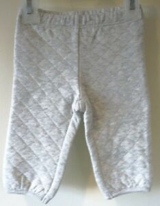 NWT Janie and Jack Fair Isle Forest Gray Quilted Pants Boy's Sz 3-6M