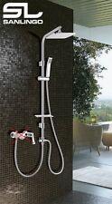 Design Duschset Dusche Duschstange Sanlingo Regenbrause Handbrause Chrom