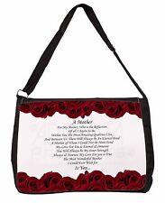 Mothers Day Poem Sentiment Large Black Laptop Shoulder Bag School/Colle, MUM-2SB
