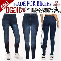 Women Motorbike Motorcycle jeans Reinforced Ladies Protective bike denim trouser