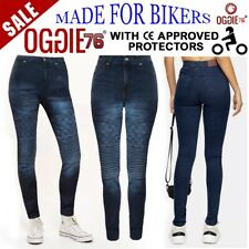 Women Motorbike Motorcycle jeans Reinforced Ladies Protective bike denim trouser
