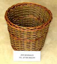 "Log Basket - 14"" Wicker Basket -  Log Storage Or Kindling - Free Postage"