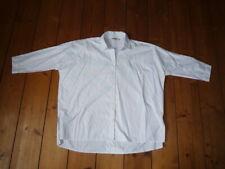 Herrlicher * Bluse Hemd * weiß mit feinen blauen Streifen * S M 36 38