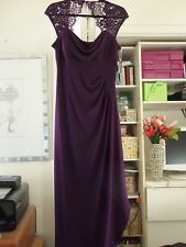 Gorgeous MSK Plumstone Formal Length Gown w/Lace/Ruching/Draping-Size 6-NEW