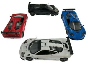 "4PC Set: 5"" Kinsmart 1995 McLaren F1 GTR Diecast Model Toy Car 1:34"