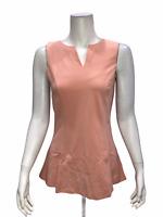 Kathleen Kirkwood Women's Pullover Split Neck Swing Cami Top Blush 2X Plus Size