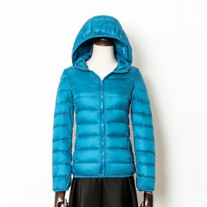 Women's Down Jackets Coats Ultralight Hooded Collar Warm Outwear Waistcoats Gift