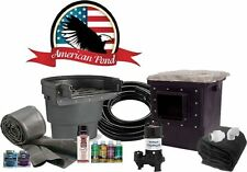 American Pro Pond Kit 11'x16' -w/ Stainless Direct Drive Pump-large-waterfall