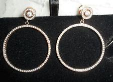 Thomas Sabo Glam & Soul 18k Rose Gold Plated Stud Zirconia Drop Hoop Earrings