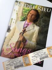 Andre Rieu Concert Program + Tickets 2006 Montreal 16 pages pictures Collectible