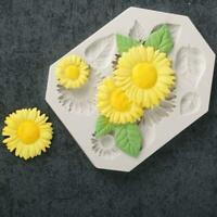 3D Silikon Form Sonnenblume Form Diy Fondant Gelee E1E9 Kuchen Formen Neu P1X5