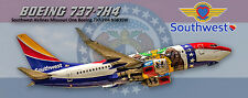 Southwest Airlines Boeing 737 Missouri One Colors Photo Magnet (PMT1623)