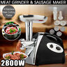 Multifunctional Electric Meat Grinder Mincer 2800W Stainless Steel Cutting Blade