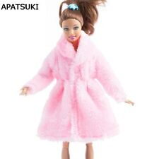 """Sweet Pink Winter Wear Long Coat For 1/6 Dolls Clothes Doll Dress For 11.5"""" Doll"""