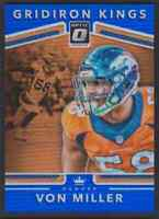 2017 DONRUSS OPTIC BLUE PRIZM GRIDIRON KINGS VON MILLER 71/149 DENVER BRONCOS