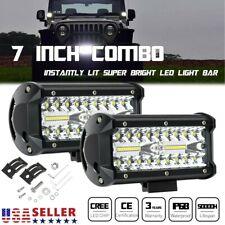 7inch 800w Led Work Light Bar Flood Spot Lights Driving Lamp Off Road Car Truck