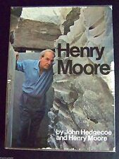 HENRY MOORE 1968 hardback in slipcase by HEDGECOE- Art Collector reference book