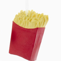French Fries Foam Ornament Christmas X-Mas Holiday Gift Fast Food Tree Hanging