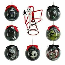More details for disney store the nightmare before christmas baubles and tree topper christmas