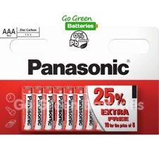 10 x Panasonic AAA Zinc Carbon Batteries 1.5V LR03, MX2400, MN2400, MICRO