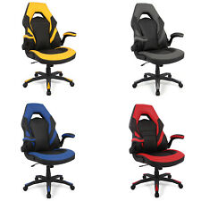 360° High-Back Racing Gaming Chair, Computer Chair with Flip Up Arms -Moustache®