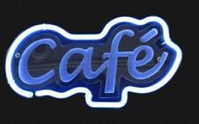 "Cafe Coffee Open 3D Carved Neon Sign Beer Bar Gift 14""x7"" Light Lamp"