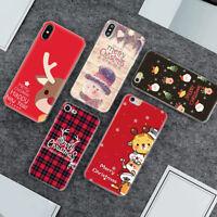 Qu_ Merry Christmas Snowman TPU Phone Case Cover for iPhone X/XS Max/XR/8 Gracio