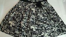 Ladies New Look Floral Black Skirt Size 10