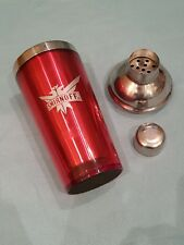 Official/Licensed Smirnoff Plastic Cocktail Shaker-Plastic-Red/Silver-New/Unused