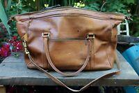 Hartmann USA Classic Large Vintage Shoulder Bag Luggage Belting Leather Carry-on