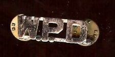 old W.P.D. mini Badge Letter initial tacpin POLICE Miniature