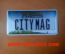 MONTANA VANITY LICENSE PLATE CAR MT TOWN AUTO TAG MAGGIE MAGGY MAGIC - CITY MAG