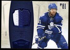 10-11 Panini Dominion MILAN LUCIC Game-worn Jersey Prime Maple Leafs 02/25
