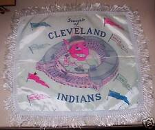 1950's Cleveland Indians Blue Satin Pillow Case