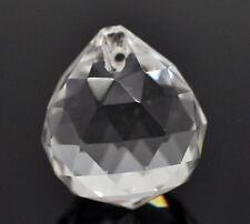 KUS 5 Klar Kristall Quarz Glas Facettiert Tropfen Charms Anhänger 22x24mm